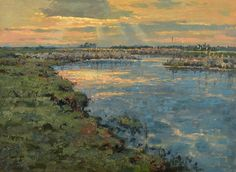 Zachód nad Biebrzą | Wojciech Górecki River, Painting, Outdoor, Art, Outdoors, Art Background, Painting Art, Rivers, Kunst