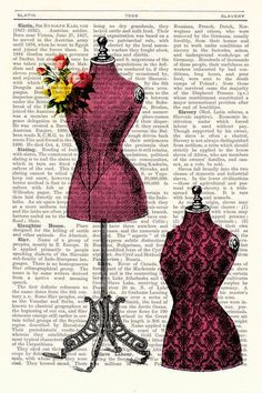 Upcycled book Victorian dress form collage Vintage Book Print Dictionary Page Dictionary Book art Upcycled book Victorian dress form collage Vintage Book by PRRINT Book Page Art, Book Art, Collage Book, Graphic 45, Dress Form Mannequin, Collage Vintage, Shabby, Printed Pages, Sewing Art