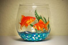 fish painted wine glasses | Custom Hand Painted Glassware. All painted glassware is dishwasher ...
