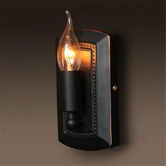 Vingtage Style Iron E14 sconce, 110-240V Lamp Light Sconce Bedroom Corridor Bar Indoor Light