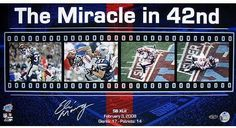 Eli Manning Miracle in the 42nd Filmstrip 12x23 Photo