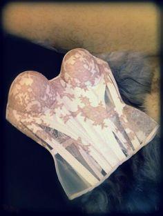 bridal lace corset