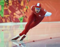 DAY 9:  Jan Szymanski of Poland competes during the Speed Skating Men's 1500m http://sports.yahoo.com/olympics