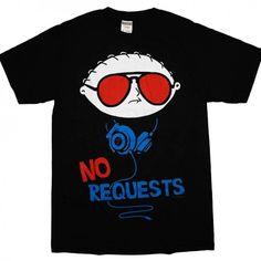 family guy t shirts | Family Guy Stewie Griffin Headphones Funny DJ T-Shirt | Ardamus.com