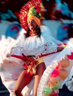 #guadeloupe, danseuse du carnaval