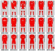 Liverpool Home shirt Liverpool Home, Liverpool Football Club, Best Football Team, Football Kits, Reebok, Premier League Soccer, This Is Anfield, Sir Alex Ferguson, Soccer Kits