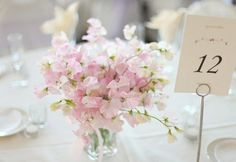 Light pink wedding flowers  sweet pea wedding flowers
