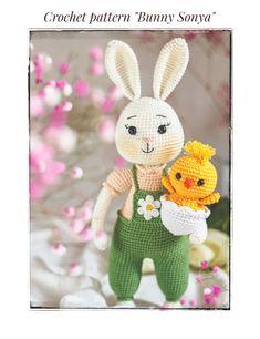 Newborn Crochet Patterns, Crochet Patterns Amigurumi, Knitting Patterns, Cute Crochet, Crochet For Kids, Bunny Toys, Cute Toys, Crochet Accessories, Handmade Toys