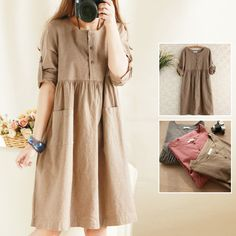 Cheap Dresses on Sale at Bargain Price, Buy Quality cotton dress plus size, cotton t-shirt dress, dresses for baby girls from China cotton dress plus size Suppliers at Aliexpress.com:1,Sleeve Length:Full 2,Sleeve Style:Regular 3,Waistline:Empire 4,fabric:tapestry 5,Decoration:Button