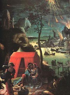Lucas van Leyden: Lot and his Daughters (oil paint)