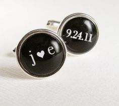 i ordered custom made cufflinks as my gift to the boys a heart k
