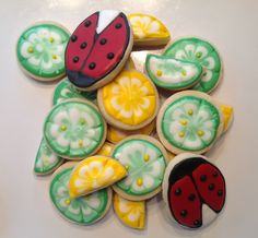 Lemons, Limes, and Ladybugs - Decorated Sugar Cookies by I Am The Cookie Lady