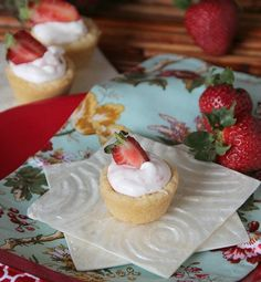 Strawberry Mousse Sugar Cookie Cups