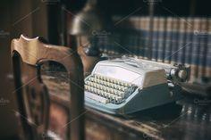 Retro blue press by De todo un poco on @creativemarket