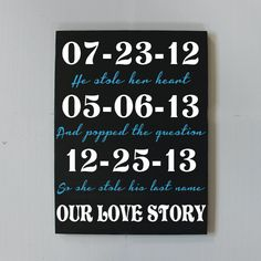 Important Date Custom Wood Sign, Anniversary Gift, Personalized Wedding Gift, Engagement Gift,Valentine Day Gift