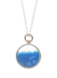 Baby Chivor necklace in silver and blue sand - Aurélie Bidermann for Bonpoint