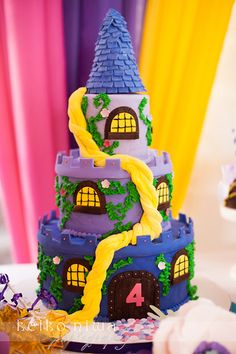 Amazing cake at a Tangled party!  See more ideas at CatchMyParty.com! #partyideas #tangled