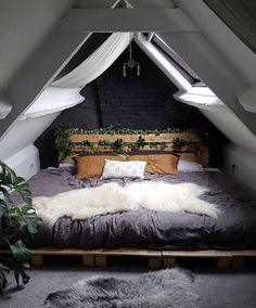 """HOME Keeping it Neutral - """"Attic Bed"""" by Saralouisa Take Smart Steps When Remodeling Your Home Every Bohemian Bedroom Decor, Home Decor Bedroom, Bedroom Ideas, Bedroom Setup, Design Bedroom, Bedroom Interiors, Bedroom Curtains, Couple Bedroom, Home Libraries"""
