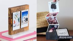 34 DIY Photo Albums To Showcase All Those Pics Looking for some cool ways to display all those photos you have on your phone and in boxes When it nbsp hellip Diy Sewing Projects, Projects To Try, Diy Instagram, Cool Diy, Easy Diy, Elf Auf Dem Regal, Diy Photo, Crafts To Make, Easy Crafts