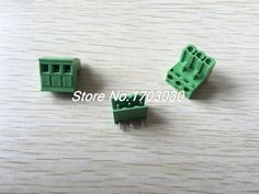 Compare Price 100 pcs 5.08mm Close Angle 3 pin Screw Terminal Block Connector Pluggable Type #5.08mm #Close #Angle #Screw #Terminal #Block #Connector #Pluggable #Type