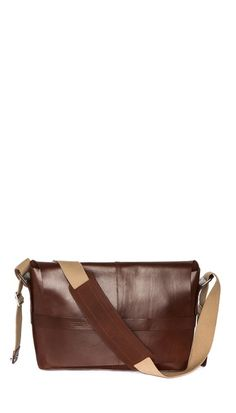 Brooks England Barbican Leather Messenger Bag