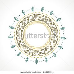 Tribal, Bohemian Mandala background with round ornament. Hand drawn vector illustration  - stock vector