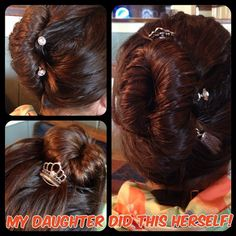 So proud of my sweetie for pulling off this gorgeous French twist on her own. Held only by lilla rose you pins. They are awesome! #lillarose #frenchtwist #youpins