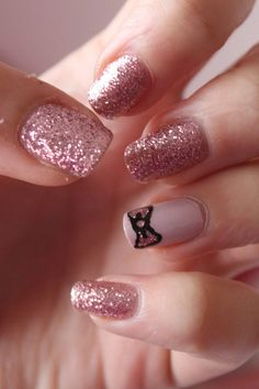 93 Inspirational Glitter Nail Art Ideas, Cute Glitter Nail Art Ideas You Will totally Love 36 Vis Wed, Pin On Mary S Wedding, 37 Beautiful Pink Glitter Nail Art Ideas, Glitter Nails Ely Glitter Nail Art Easy Clear Glitter. Nail Designs Tumblr, Short Nail Designs, Cute Nail Designs, Acrylic Nail Art, Acrylic Nail Designs, Cute Nails, Pretty Nails, Pink Glitter Nails, Glitter Nikes