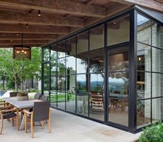 Steel Windows & Doors: A Big Part of Contemporary Architecture Steel Windows, Steel Doors, Windows And Doors, Outdoor Spaces, Outdoor Living, Outdoor Decor, Mediterranean Homes, House Extensions, Contemporary Architecture