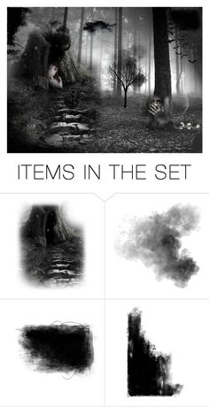 """""""haunted forrest"""" by xx-fallen-angels-xx ❤ liked on Polyvore featuring art"""
