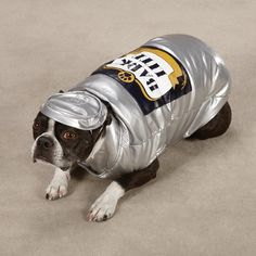 Bark Lite Dog Costume in Silver