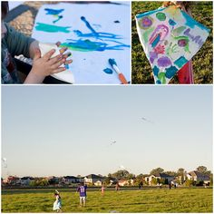 Paint & fly kites at a kite party - Jedd 1st Birthday