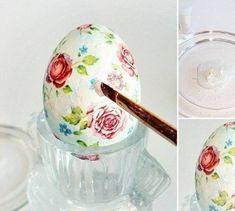 Jajka, skrobia, 3 serwetki i… godzinę później będziesz mieć na swoim stole prawdziwe arcydzieło – Lolmania.pl – Najciekawsze artykuły w sieci Easter Parade, Egg Art, Egg Decorating, Diy And Crafts, Tableware, Handmade, Decoupage Ideas, Easter Ideas, Diy Ideas