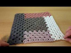 - Crochet cozy blanket in a granny pattern, granny square afghan - Granny Square Crochet Pattern, Crochet Granny, Crochet Stitches, Ribbed Crochet, Crochet Cozy, Knitting Patterns, Crochet Patterns, Granny Square Blanket, Granny Squares