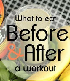 What to eat before and after exercising. The food you eat before and after a workout can help you burn more calories and build muscle.