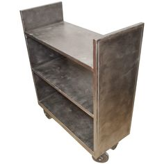 Stainless Steel Book, Plant and Bar Cart on Wheels  | From a unique collection…