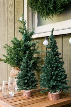 How to Turn Your Front Porch Into the North Pole >> http://www.hgtv.com/design/outdoor-design/outdoor-spaces/quick-ways-to-decorate-your-front-porch-pictures?soc=pinterest
