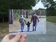 """""""Dear Photograph,    I hope he never forgets these walks.    Tracy"""""""