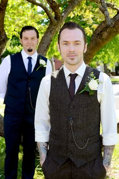 rockabilly grooms at DuckDuckGo Hops Wedding, Wedding Vest, Wedding Groom, Wedding Suits, Wedding Bells, Dream Wedding, Summer Wedding, Wedding Dresses, Rockabilly Groom