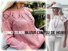 Blusa Crochet con Manga Campana / Patrones Crochet Cable, Crochet Crop Top, Diy Crochet, Crochet Hats, Crochet Vest Pattern, Crochet Stitches, Free Pattern, Hippie Crochet, Crochet Girls