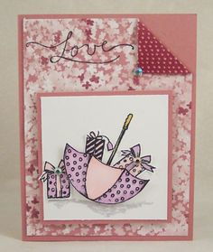 Umbrella Full of Gifts Card by HeatherHolbrook - Cards and Paper Crafts at Splitcoaststampers
