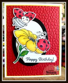The Little Ladybug stamp set is just adorable! Happpy Birthday, Rainbow Loom Charms, Bee Cards, Ribbon Sculpture, Stamping Up Cards, Cards For Friends, Kids Cards, Flower Cards, Scrapbook Cards