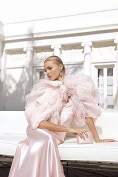 Pink Ralph Lauren Gown & Clutch