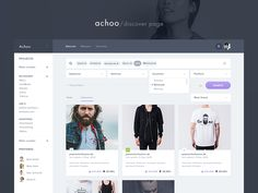 Hi guys,  Working on this amazing product called Achoo.   Here is a discover page which can be used to search various products and people.   We have 2 shots, once with closed and one with opened fi...