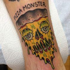 Need pizza tattoo Monster Le, Alex Strangler, Pizza Tattoo, Food Tattoos, Art Quotes, Artsy, Thankful, Ink, Instagram Posts