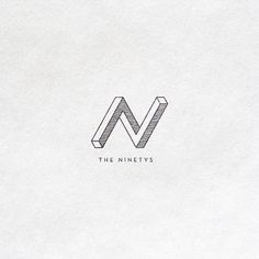 Logo Design: The Ninetys by Anton Burmistrov  Although this logo has tiny details, the added dimension through these details translates well enough that it doesn't become cluttered or a distraction. The logo is simplistic enough to establish a clean identity for the brand while adding enough energy and contrast to create an interesting aspect for branding moving forward.