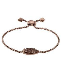 Kendra Scott: Kathleen Bracelet in Chocolate Drusy Rose Jewelry, Jewelry Box, Jewelery, Jewelry Watches, Jewelry Accessories, Jewelry Bracelets, Choker Necklaces, Chain Jewelry, Chokers