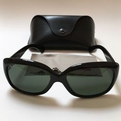 4126abf7c36  24.99---  Ray Ban RB4098 Jackie Ohh II Sunglasses Black Frame Green Lens