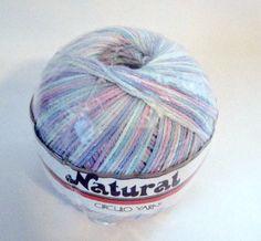 Mercerized Cotton Yarn, Circulo Yarn Natural, Pastels 9490 White, Blue, Pink, Green, Lavender, Crochet Thread Yarn  #crochet #knitting