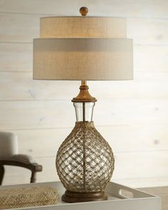 Attirant Seagrass Table Lamp At Horchow   Love The Texture + Combination Of  Materials.